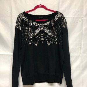 Express sequin and diamond sweater gorgeous!